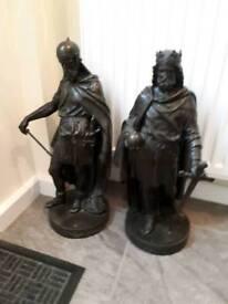 Antique spelter figures Victorian