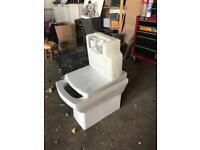 Concealed toilet, cistern and toilet seat