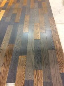Mixed coloured Engineered hard wood flooring 1.00$/sf