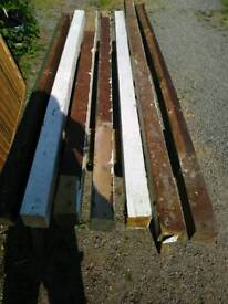 Reclaimed 3x3 garden timber fencing posts