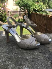 Dune gold shoes size 5