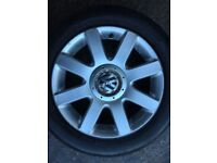 VW ALLOY WHHEELS AND TYRES
