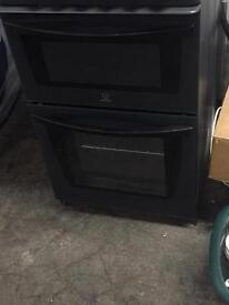 Indesit Black and grey gas cooker