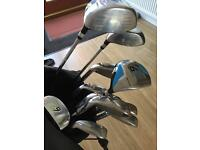 Golf clubs as new Dunlop full set with bag & stand golf covers . Plus rain cover.