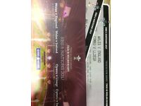 2 Wales v England 6 nations rugby tickets