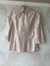 Women's pale pink coast blouse size 10