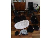 Silver Cross Travel System : Linear pram and pushchair and Ventura car seat. Original accessories