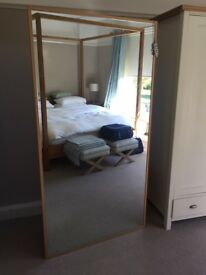 Huge Mirror made by Terence Conran ( Benchmark) with drawers attached
