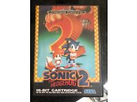 SONIC THE HEDGEHOG SEGA MEGA DRIVE GAME CARTRIDGE IN BOX WITH MANUAL ALL IN EXCELLENT CONDITION.