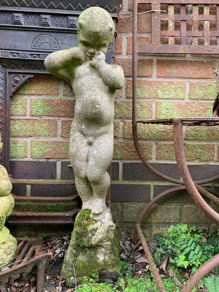 Old Weathered Garden Statue In West Bridgford