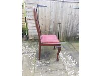 Queen Anne chairs. Set of 4.