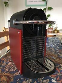 Nespresso Pixie Coffee Machine (Magimix 11325) - Carmine Red (Used; Good Condition)