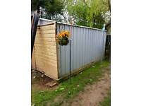 Metal shed / garage 10ft by 13ft