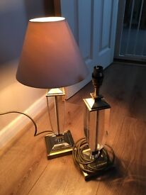 2 X Laura Ashley heavy table lamps
