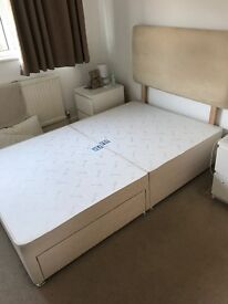 Divan Bed Base and Headboard Small Double