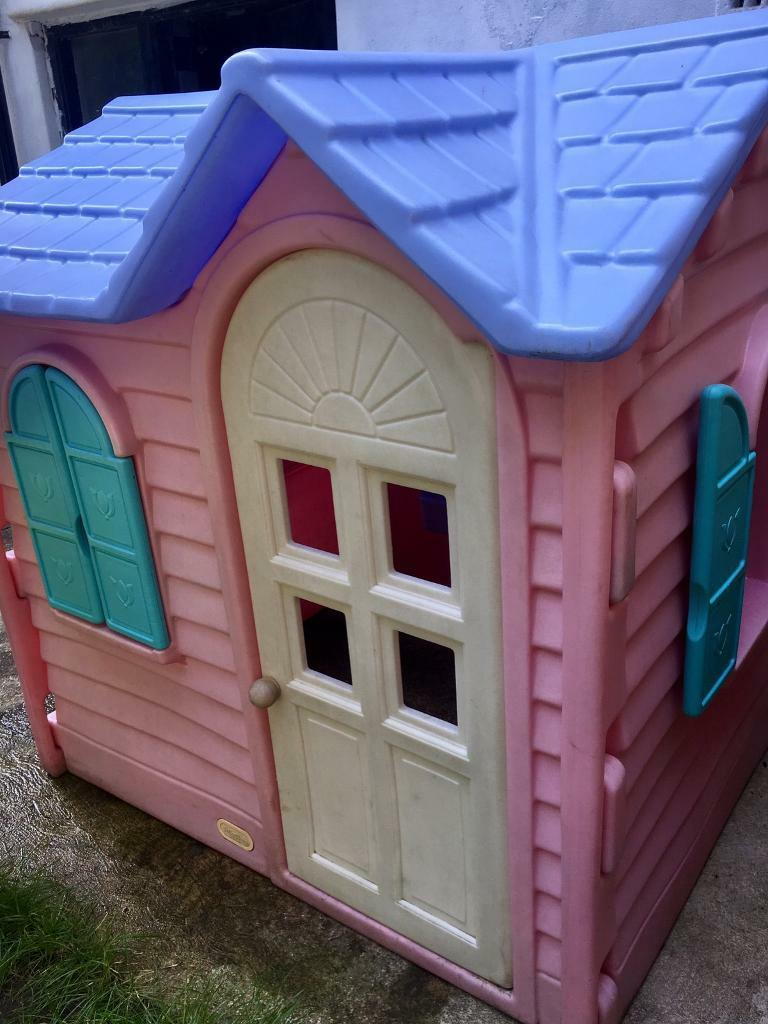 Kids little tikes pink playhouse with extra kitchen | in ...