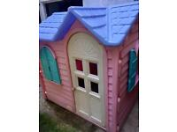 Kids little tikes pink playhouse with kitchen