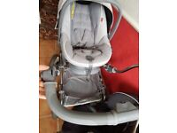 Grey pram with car seat excellent condition