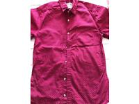 Red patterned men shirt
