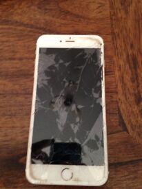 IPhone 6 Plus o2 16gb smashed screen