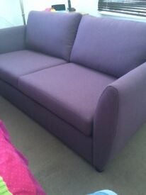 NEW DFS Sofabed in purple 3 seater brand new