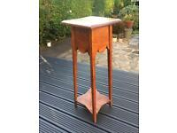 Charming Vintage Wooden Lamp Table / Plant Stand