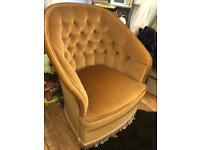 Beautiful tub chair. Golden mustard colour
