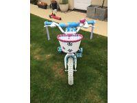 "Gorgeous Cinderella kids bike, 12"", stabilisers"