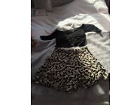 Miss Selfridge shorts and t shirt