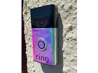 Ring door bell vinyl decal
