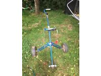 old but serviceable golf trolley