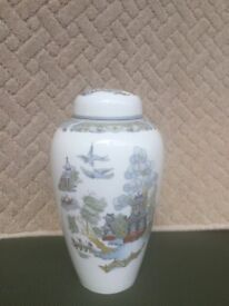 Wedgewood Chinese Legend Tall Lidded Ginger/Temple Jar