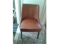 Vintage 1960s Tan Leather Chair