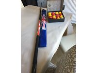 union jack snooker cue