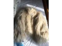 Ladies faux fur jacket.