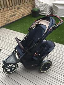 Phil and Teds Sport Double Buggy incl Cocoon
