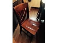McDonagh solid wood dining table and six chairs