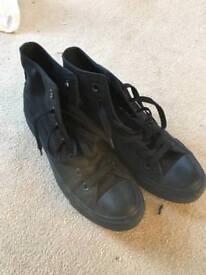 Black converse trainers