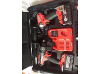 For sale: Milwaukee M18 fpp2a Twin pack