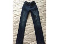 Immaculate M&S diamanté jeans age 12-13
