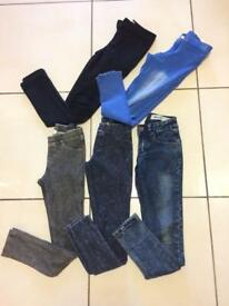 Girls jeans/jeggins New look & H&M