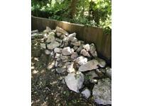 Kentish ragstone rocks boulders