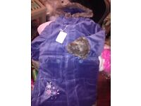 BRAND NEW with tags ..BEAUTIFUL ladybird fur trim velvety coat