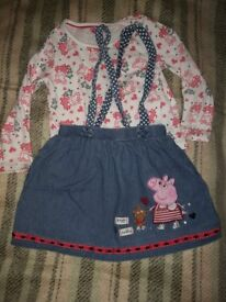 Peppa Pig outfit for 4-5 year old girls