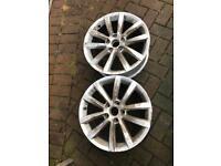 "Vw Passat 17"" highline wheels x2"