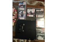 PS3 120 gb 1 controller and games