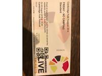 4x Cambridge Folk Festivals Tickets Friday 3rd August (First Aid Kit Headlining)