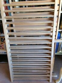 Wooden cot bed and brand new mattress