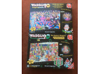 3 WASGIJ 1000 PIECE JIGSAW PUZZLES-CHRISTMAS EDITION THE MYSTERY SHOPPER & STRICTLY CAN'T DANCE