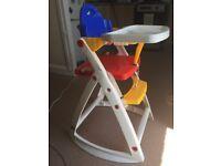 Multi coloured high chair